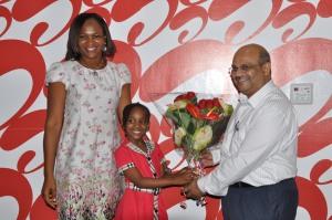 Mrs Emike Uyanne, Amarachi and Airtel COO Deepak Srivastava