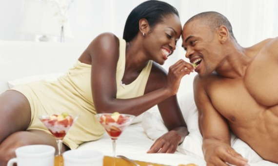black-couple-bed