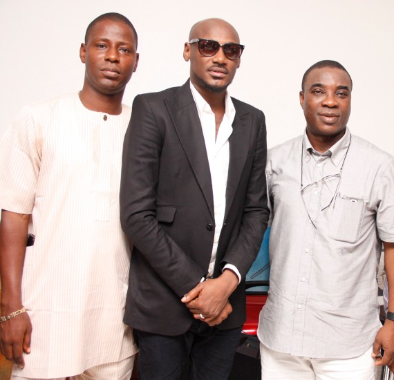 L-R, Exec. Producer, K1 Live Unusual, Adebayo Olasoju 2face Idibia & KWAM 1, at K1 Live Unusual concert announcement